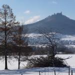 Winterblick auf Hohenzollern Alb bei Hechingen